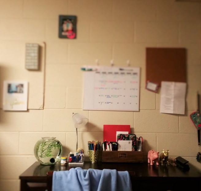 my desk at Delta Gamma Delta Iota chapter