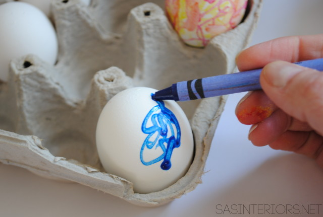 DIY Crayon Easter Eggs