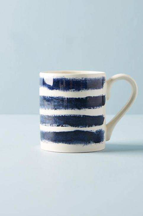 Anthropologie Indigo Rain Mug