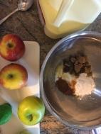 Apple pie batter