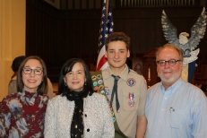 Carson's Eagle ceremony
