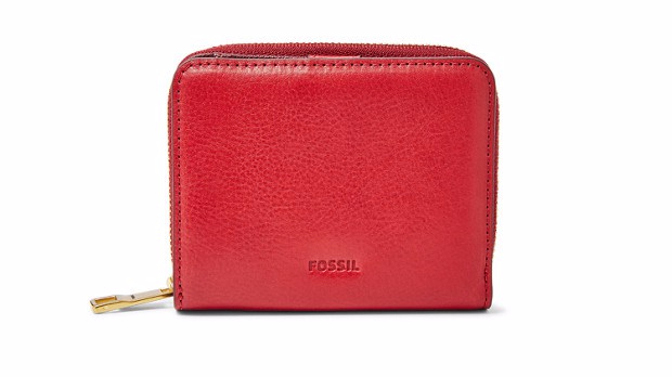 Fossil Red Velvet Wallet