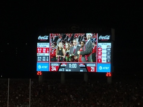 Homecoming jumbotron
