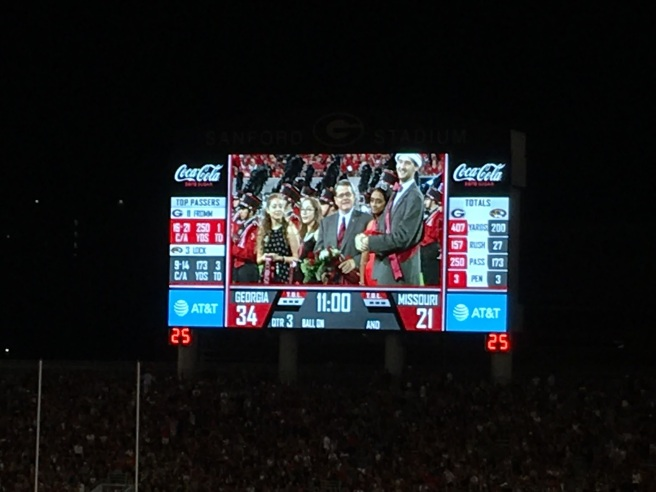 Me on the UGA Jumbotron