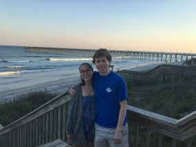 Will and Bailey at the beach 2017