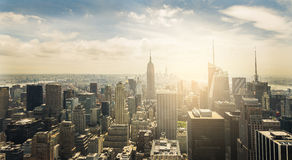 new-york-city-aerial-view-manhattan-skyline-sunset-44575206